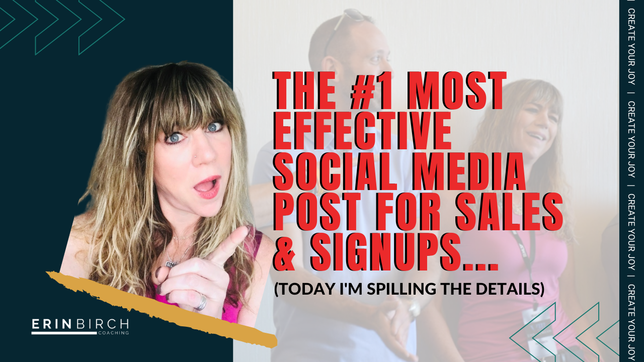 The #1 most effective Social Media Post For Sales & Signups